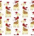 Seamless giraffes pattern vector image