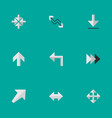 Set of simple indicator icons elements arrow vector image