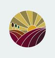 vineyard colorful icon vector image