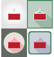 delivery flat icons 16 vector image