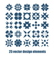 Design elements set Abstract symbols collection vector image vector image