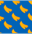 cartoon fresh banana fruits in flat style seamless vector image