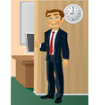 time come to work vector image