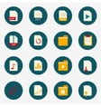 Web flat document icons with folder vector image