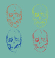 Set of Skulls isolated on background vector image