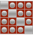 Silver red background with circles and squares vector image