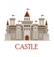 Gray medieval castle with turrets vector image