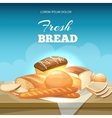 Bread concept background Bakery poster vector image