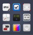 set square app icon vector image vector image