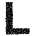 alphabet L vector image