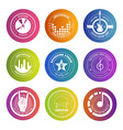Colorful Music Labels vector image
