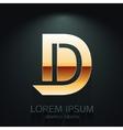 Graphic Elegant Gold Letter D vector image