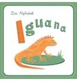 Letter I - Iguana vector image