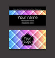 polygonal colorful double-sided business card vector image