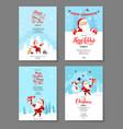 santa holiday winter card vector image