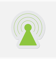 simple green icon - transmitter vector image