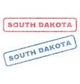 south dakota textile stamps vector image