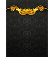 Luxurious pattern black vector image vector image