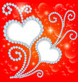background with stars and hearts vector image vector image