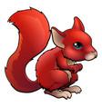 red cartoon squirrel vector image vector image