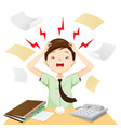 business man terrible headache with his work vector image