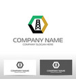 oil industry logo design vector image vector image