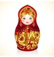 Red and gold colors Russian doll Matryoshka vector image vector image