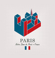 schematic drawing of the notre dame de paris