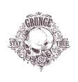 Grunge Skull Art vector image vector image