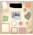 set scrapbook vector image vector image