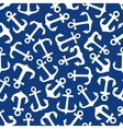 Seamless marine anchors pattern on blue vector image vector image