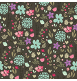 floral seamless pattern dark green vector image vector image