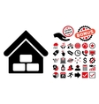 Warehouse Flat Icon with Bonus vector image