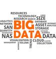 word cloud big data vector image