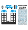 Company Icon with 1000 Medical Business Symbols vector image