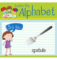Flashcard letter S is for spatula vector image