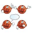 Thinking basketball set vector image vector image