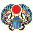 egyptian scarab beetle vector image