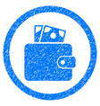 wallet rounded grainy icon vector image