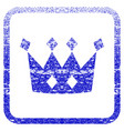 crown framed textured icon vector image