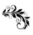 Retro flourish element vector image