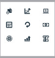 set of simple bill icons vector image