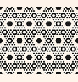 Geometric pattern hexagons in hexagonal grid vector image