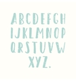 Hand drawn old textured font vector image vector image