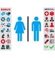Toilets Icon vector image