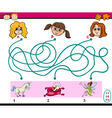 find path game for children vector image