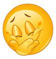 hiding smile emoticon vector image vector image