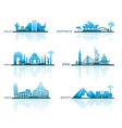 architectural sights of different countries vector image
