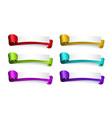 cartoon colored silk ribbons template set vector image