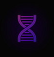 colorful dna structure icon or logo vector image